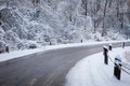 Winter road in snowy forest - PhotoDune Item for Sale