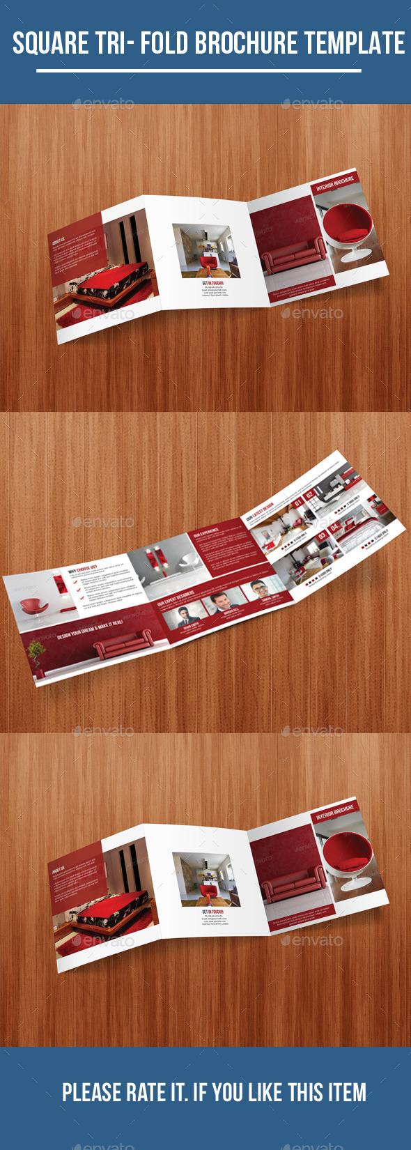GraphicRiver Square Tri Fold Interior Brochure 10269935