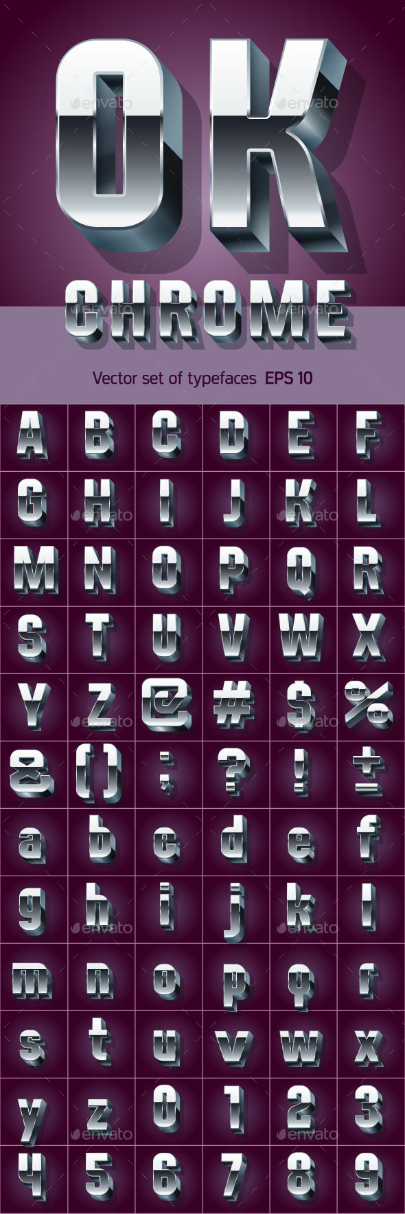 GraphicRiver Illustration of Silver or Aluminum 3D Alphabet 10266548