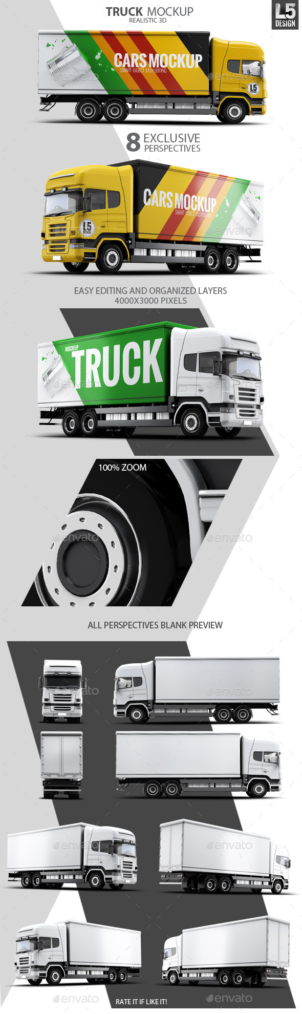 GraphicRiver Cargo Truck Mock-Up 10269980
