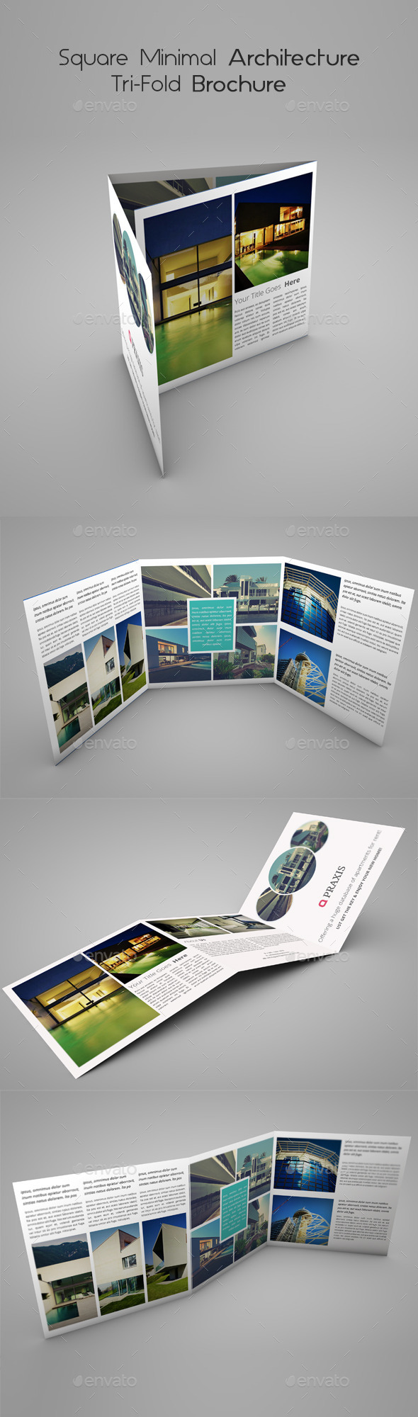 GraphicRiver Square Minimal Architecture Tri-Fold Brochure 10270055