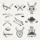 Set of Hunt Emblems, Badges, Labels and Designed - GraphicRiver Item for Sale