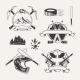Set of Extreme Sports Emblems, Badges, Labels - GraphicRiver Item for Sale