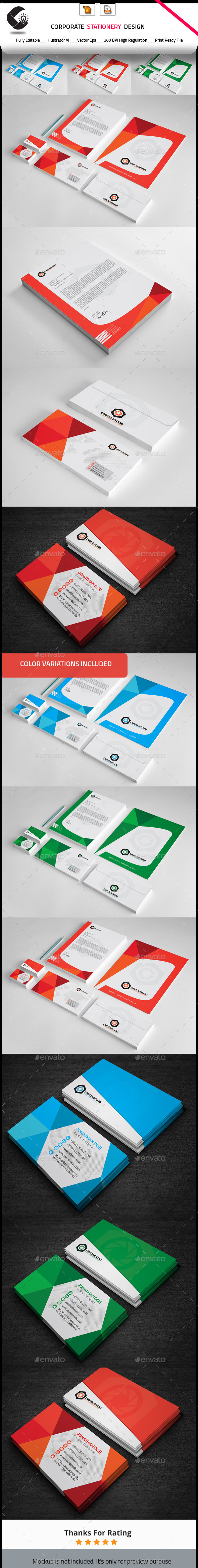 GraphicRiver Corporate Stationery Design 10270119