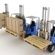 Three loaders with cargo and without cargo.  - PhotoDune Item for Sale