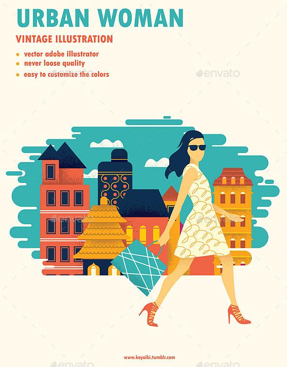 GraphicRiver Modern Urban Woman 10270243