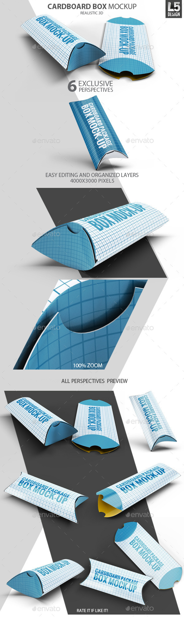 GraphicRiver Cardboard Package Box Mock-Up 10270244