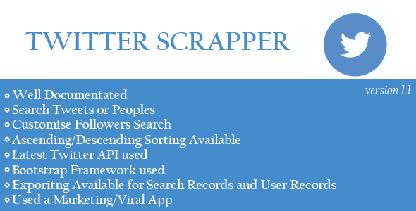 CodeCanyon Twitter Viral Scrapper App 10182963