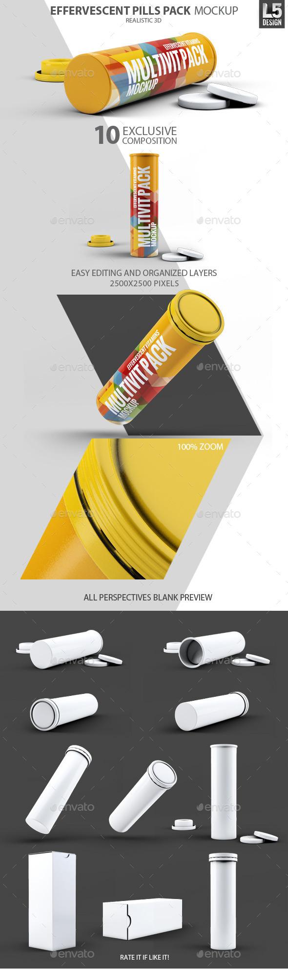 GraphicRiver Effervescent Pills Pack Mock-Up 10270355