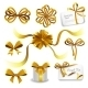 Set of Gold Gift Bows with Ribbons  - GraphicRiver Item for Sale