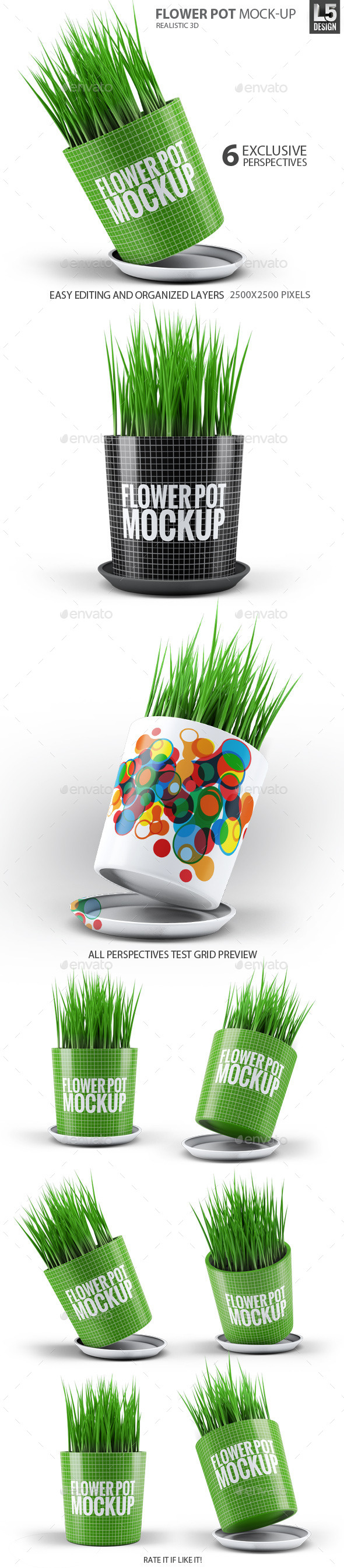 GraphicRiver Flower Pot Mock-Up 10270382