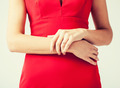 woman showing wedding ring on her hand - PhotoDune Item for Sale