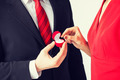 couple with wedding ring and gift box - PhotoDune Item for Sale