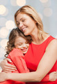 happy mother and daughter hugging - PhotoDune Item for Sale