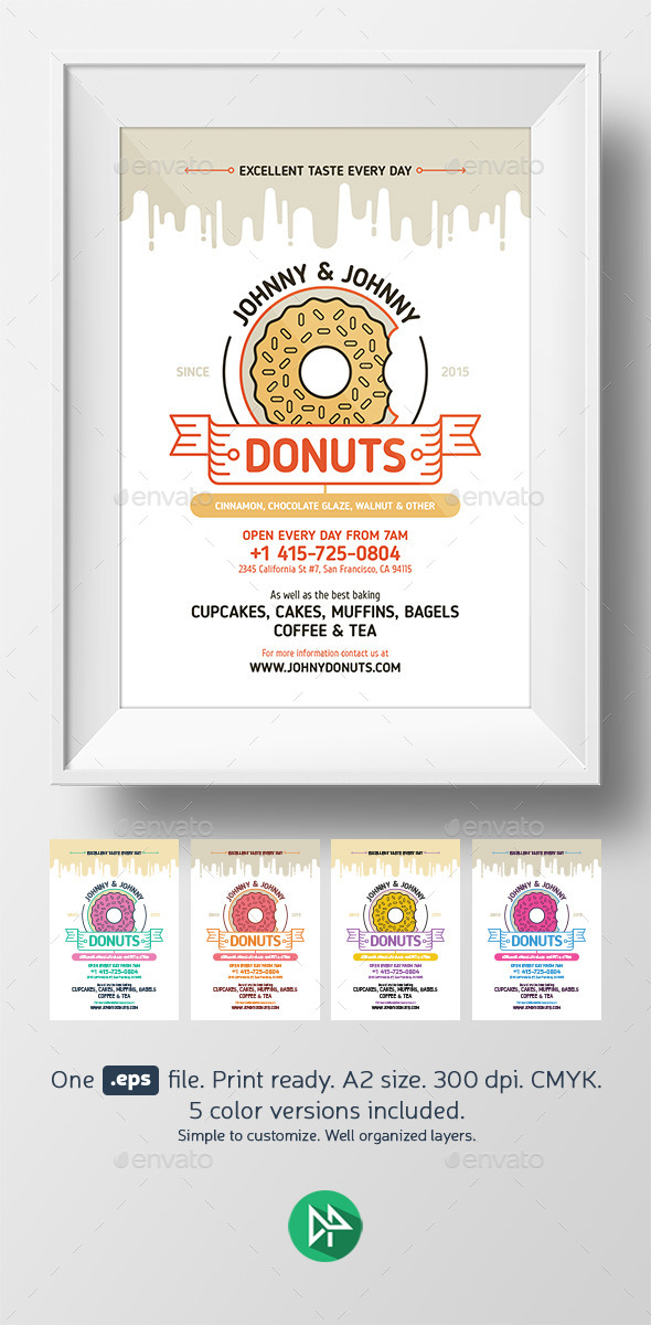 GraphicRiver Donuts Poster Template 10270408