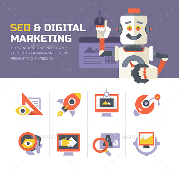 GraphicRiver SEO & Digital Marketing Icons 10270458