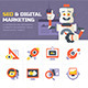 SEO & Digital Marketing Icons - GraphicRiver Item for Sale
