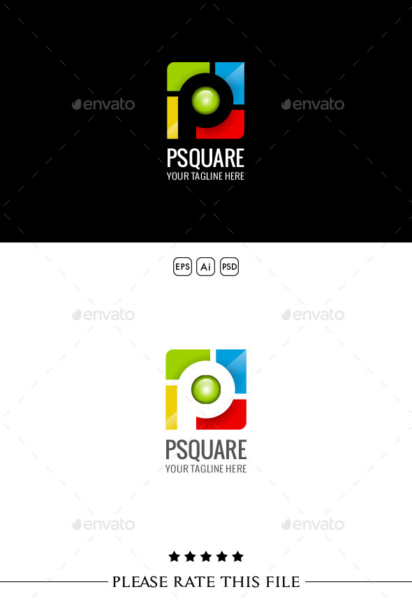 GraphicRiver P Square Logo 10251308