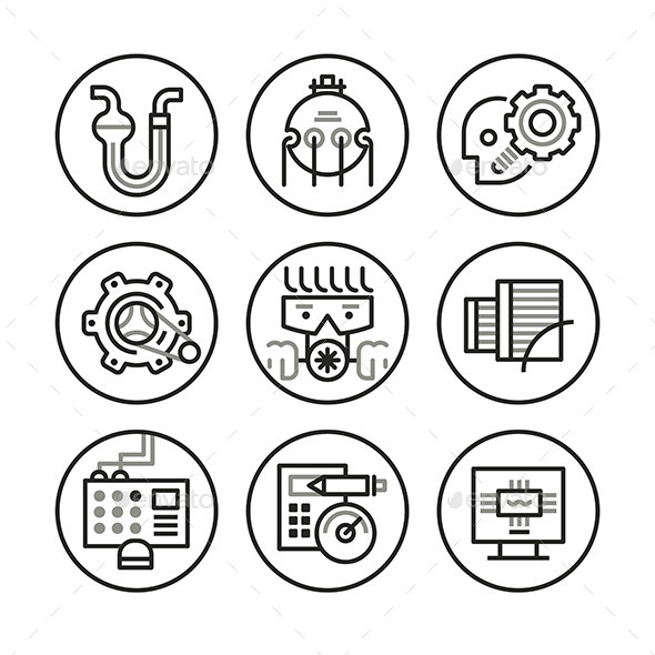 GraphicRiver Engineering Icons 10270543
