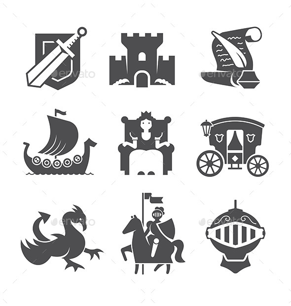 GraphicRiver Medieval Symbols Collection 10270588