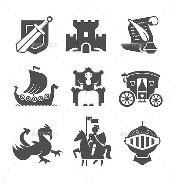 GraphicRiver Medieval Symbols Collection 10270588