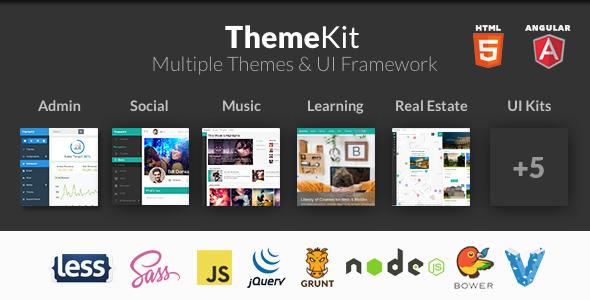 ThemeKit - Angular, HTML Bootstrap Themes & Admin - Admin Templates Site Templates