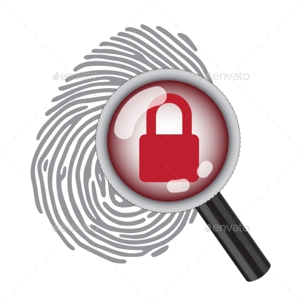 GraphicRiver Finger Print with Magnifying Glass 10270988