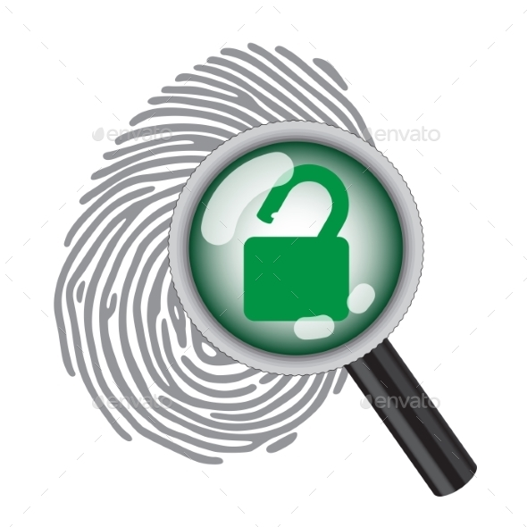 GraphicRiver Finger Print with Magnifying Glass 10271029