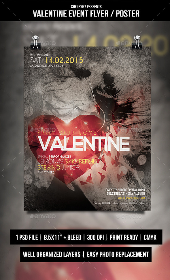 GraphicRiver Valentine Event Flyer Poster 10271115