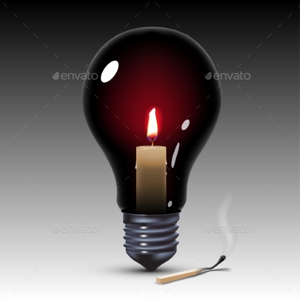 GraphicRiver Light Bulb with Candle 10271157