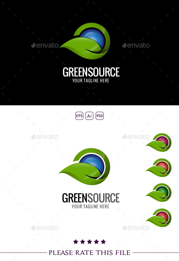 GraphicRiver Leaf & Water Logo 10260771