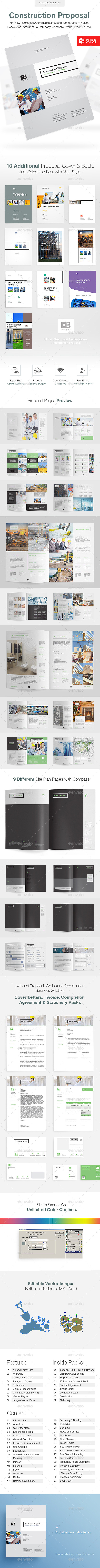 GraphicRiver Clean Construction Proposal 10196053