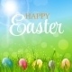 Happy Easter Background Vector Illustration - GraphicRiver Item for Sale