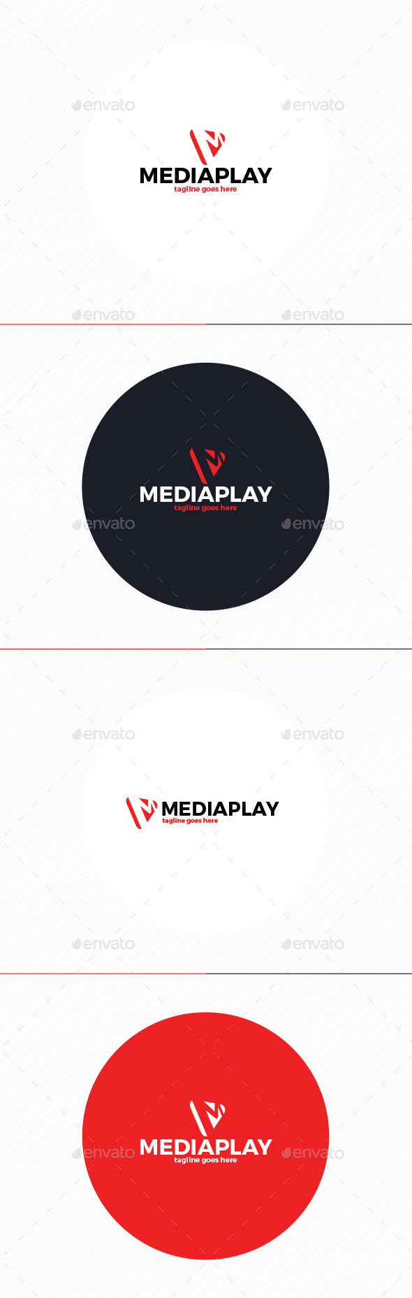 GraphicRiver Media Play Logo Letter M 10271564