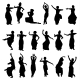 Indian Dancer Silhouettes  - GraphicRiver Item for Sale
