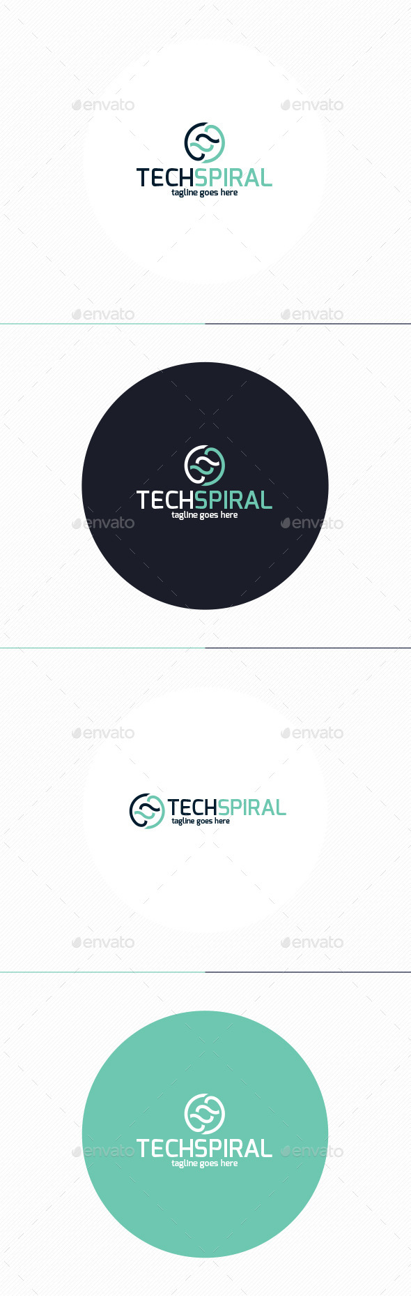 GraphicRiver Tech Spiral Logo 10271572