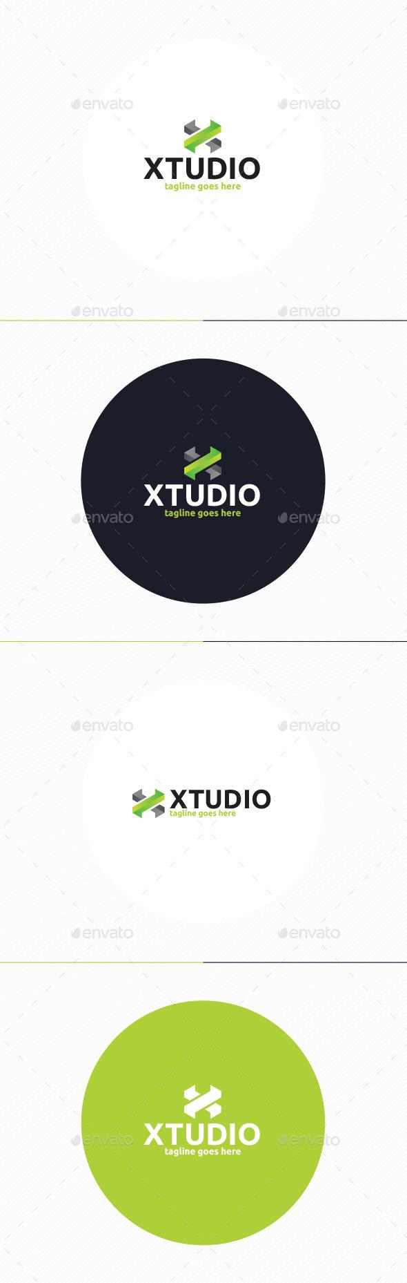 GraphicRiver X Studio Logo Letter X 10271751