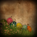 Grunge Easter egg background - PhotoDune Item for Sale