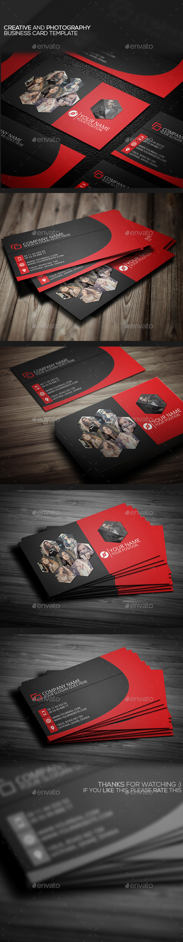 GraphicRiver Creative And Photography Business Card Template 10272102