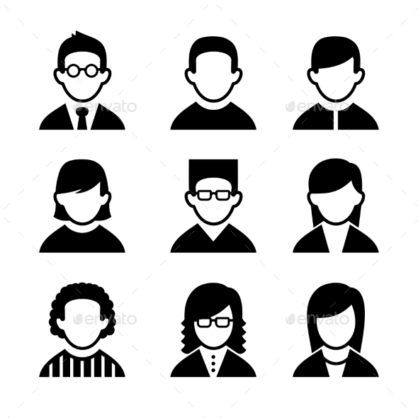 GraphicRiver Managers and Programmers User Icons Set Vector 10272280