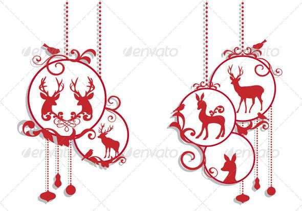 Christmas Balls With Deer