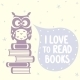 Owl and Books - GraphicRiver Item for Sale