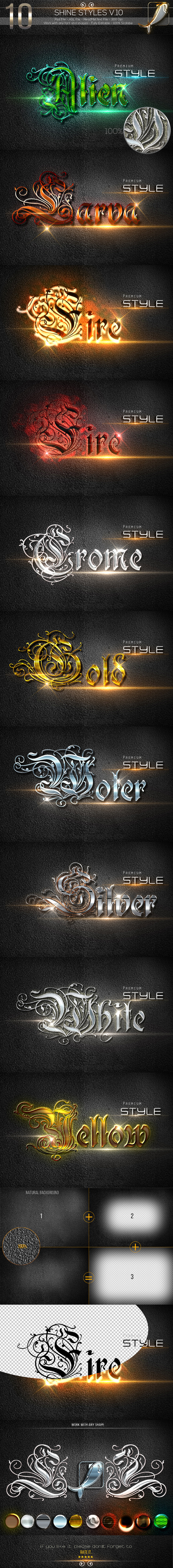 GraphicRiver 10 Shine Styles V.10 10272559