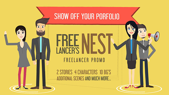 Freelancers Nest- Freelancer Promo Template