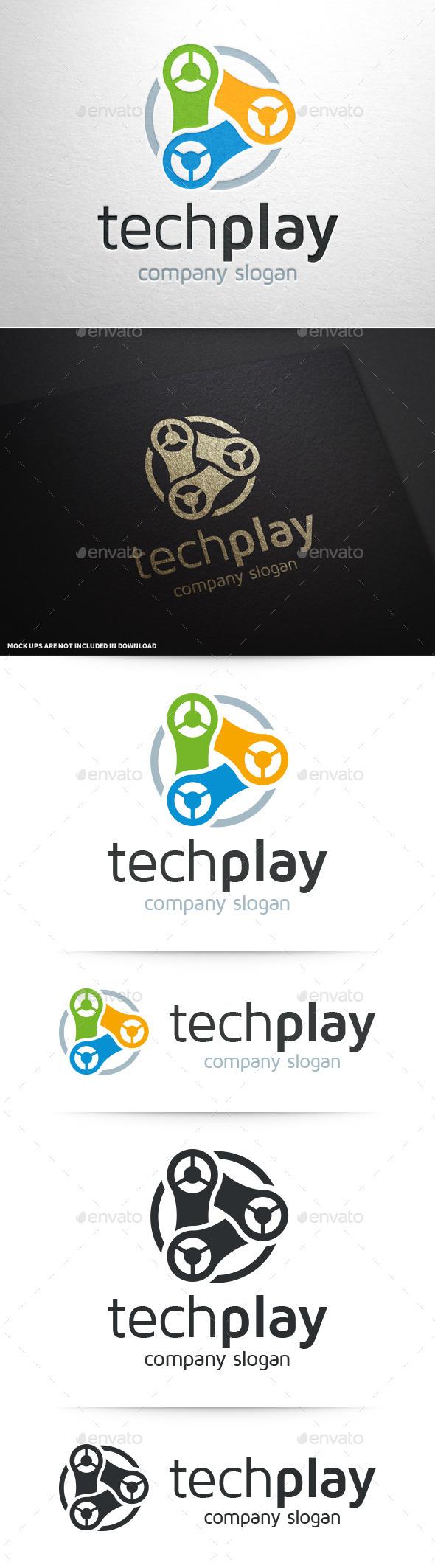 GraphicRiver Tech Play Logo Template 10272655