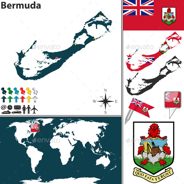 GraphicRiver Map of Bermuda 10272672