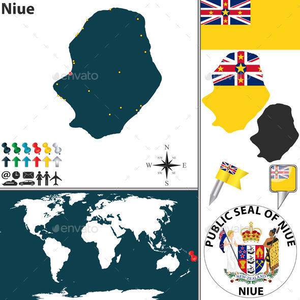 GraphicRiver Map of Niue 10272709