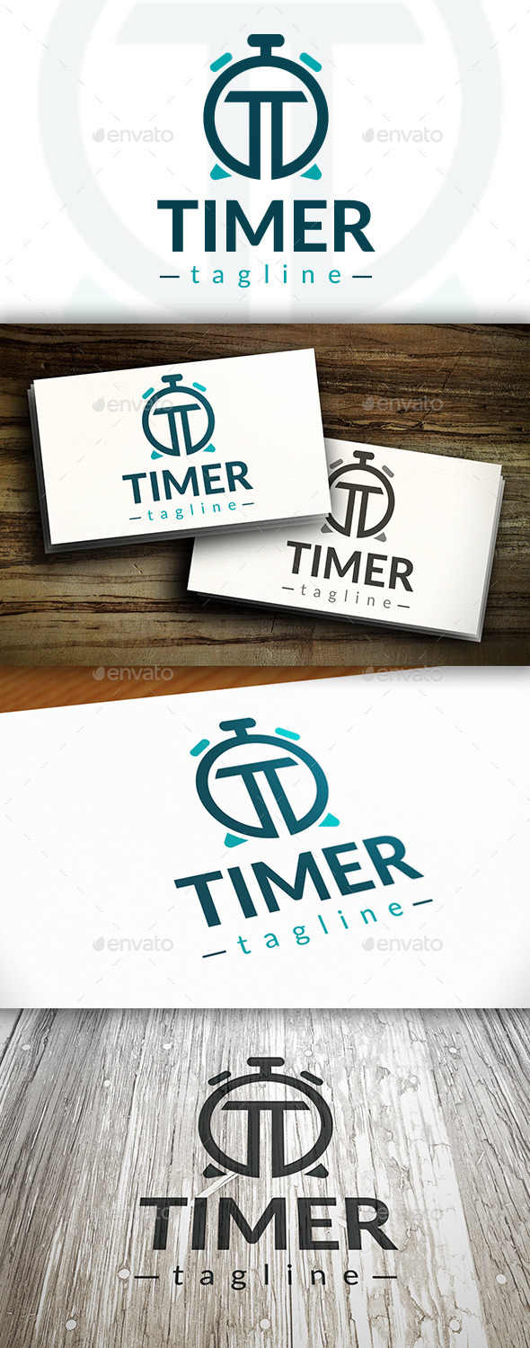 GraphicRiver Time T Letter Logo 10272720