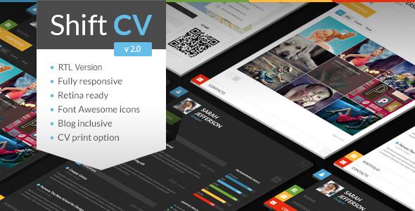 Free download themeforest ShiftCV - Blog Resume Portfolio WordPress