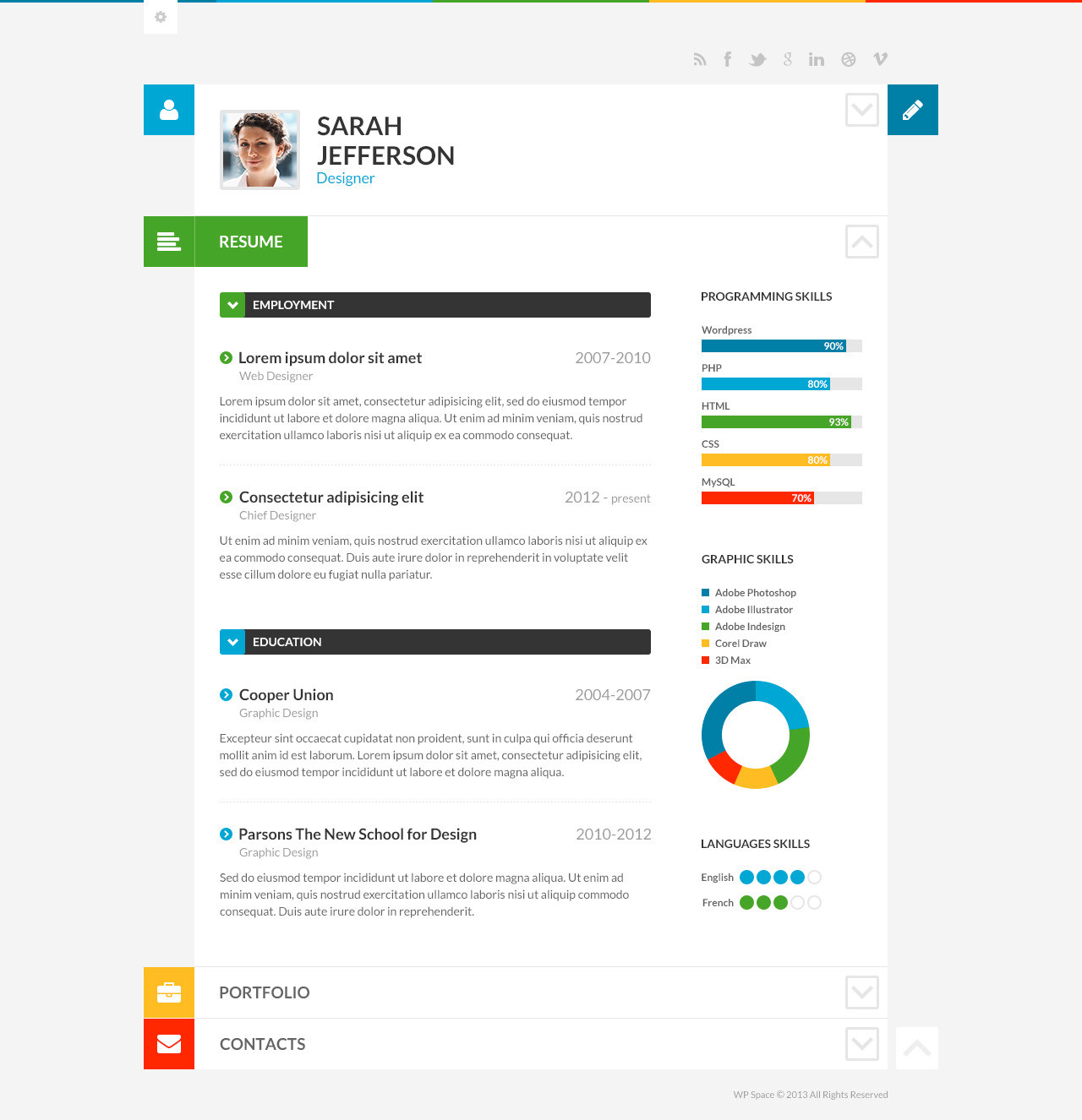 Wordpress Resume myresume is a wordpress resume theme developed by elegant themes it comes with options to create a portfolio add biographical and professional information Shiftcv Blog Resume Portfolio Wordpress